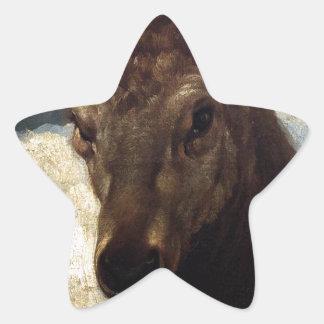 Cabeza de un macho de Diego Velázquez Pegatina En Forma De Estrella