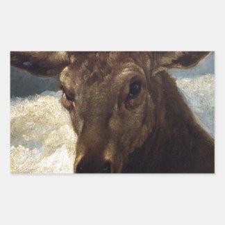Cabeza de un macho de Diego Velázquez Pegatina Rectangular