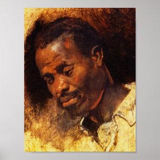 Cabeza de un negro de Rubens Posters