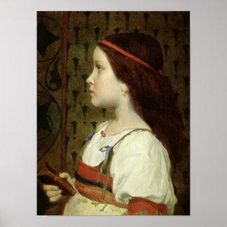 Cabeza de un niño, 1866 póster