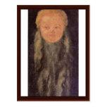 Cabeza de un niño barbudo de Albrecht Dürer Tarjetas Postales