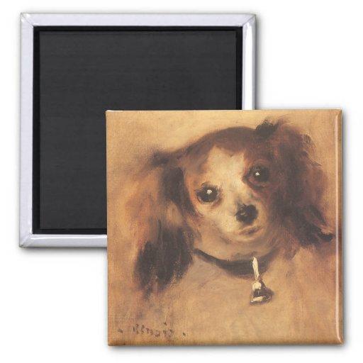 Cabeza de un perro de Pedro Renoir, bella arte del Imán Cuadrado