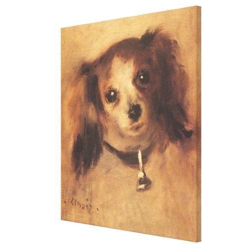 Cabeza de un perro por Renoir, arte del Lona Estirada Galerias