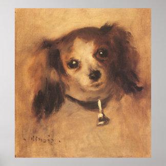 Cabeza de un perro por Renoir, arte del Póster