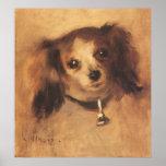 Cabeza de un perro por Renoir, arte del Posters