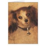 Cabeza de un perro por Renoir, arte del Tarjeta De Felicitación