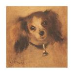 Cabeza de un perro por Renoir, arte del Impresiones En Madera
