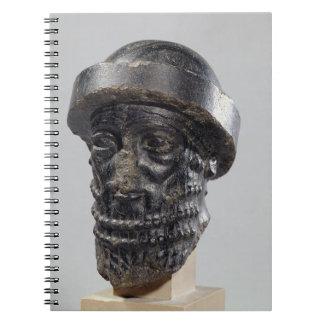 Cabeza de un rey posiblemente Hammurabi rey de B Libretas