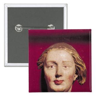 Cabeza de un santo, c.1520 pin cuadrada 5 cm