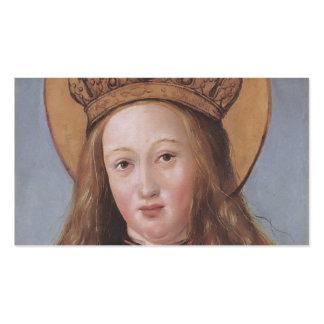 Cabeza de un santo femenino de Hans Holbein el más Plantilla De Tarjeta De Visita