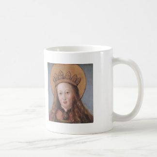 Cabeza de un santo femenino de Hans Holbein el más Tazas De Café