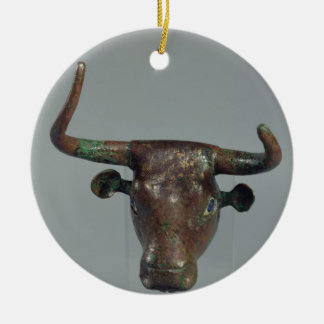 Cabeza de un toro, con la inscripción sumeria real ornamentos de reyes magos