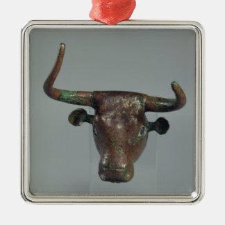 Cabeza de un toro, con la inscripción sumeria real ornamentos para reyes magos