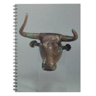 Cabeza de un toro, con la inscripción sumeria real libreta espiral