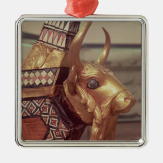 Cabeza de un toro, decoración de una arpa 2 ornamentos para reyes magos