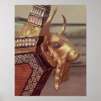 Cabeza de un toro decoración de una arpa impresiones