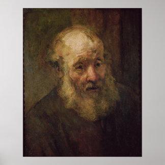 Cabeza de un viejo hombre, c.1650 póster