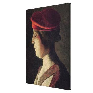 Cabeza de una mujer 2 impresión en lienzo