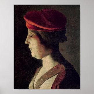 Cabeza de una mujer 2 póster
