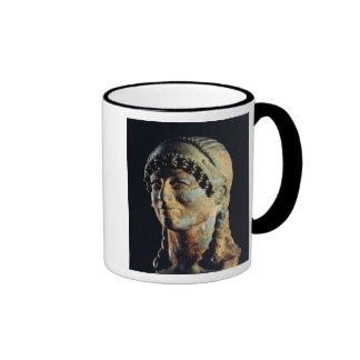 Cabeza de una mujer de Etruscan Taza De Café