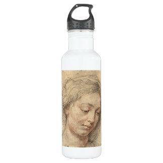 Cabeza de una mujer de Paul Rubens Botella De Agua De Acero Inoxidable