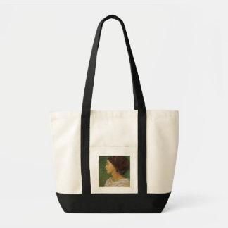 Cabeza de una mujer del mulato, 1861 (el aceite en bolsa tela impulso