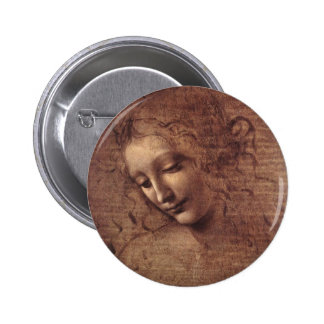 Cabeza de una mujer joven con el pelo Tousled (Led Pin