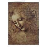 Cabeza de una mujer joven con el pelo Tousled o, L Tarjeton