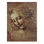 Cabeza de una mujer joven con el pelo Tousled o, L Postales