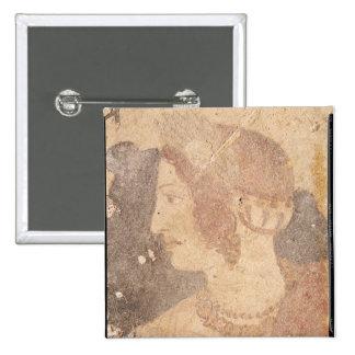 Cabeza de una mujer joven, Velia Pin Cuadrada 5 Cm