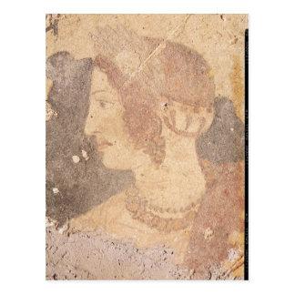 Cabeza de una mujer joven, Velia Postal