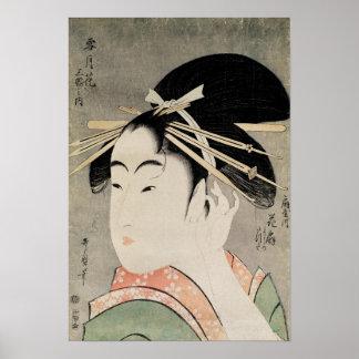 Cabeza de una mujer póster
