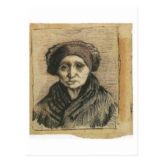 Cabeza de una mujer, Vincent van Gogh Postal