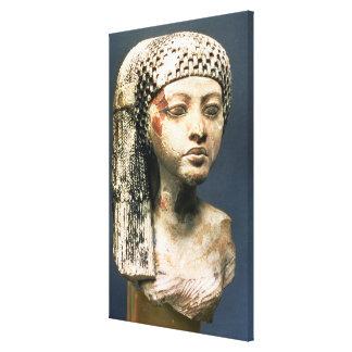 Cabeza de una princesa de la familia de Akhenaten Impresión En Lona Estirada