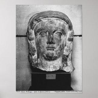 Cabeza de una señora del Palmyra, ANUNCIO del sigl Impresiones