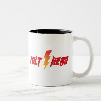 Cabeza de voltio - perno del aligeramiento taza de café de dos colores