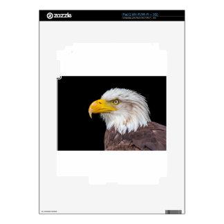 Cabeza del águila calva en negro skins para iPad 2