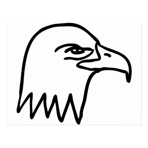 cabeza del águila tarjeta postal