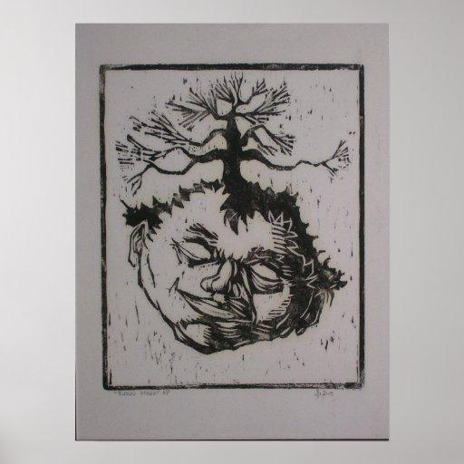 Cabeza del árbol póster