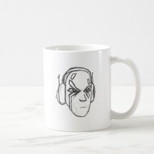 Cabeza del auricular tazas de café