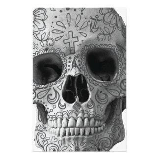 Cabeza del Azteca de la cara del horror del cráneo Papeleria De Diseño