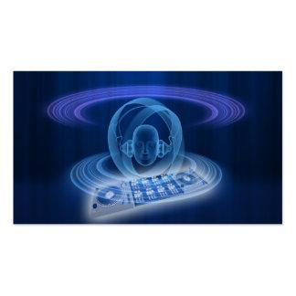 Cabeza del azul de DJ Tarjetas De Visita