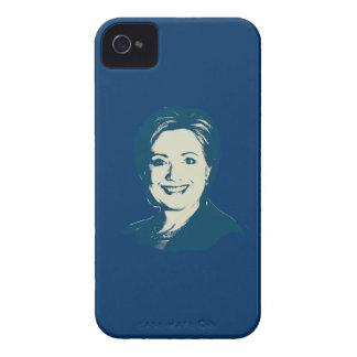CABEZA DEL AZUL DE HILLARY CLINTON iPhone 4 PROTECTOR