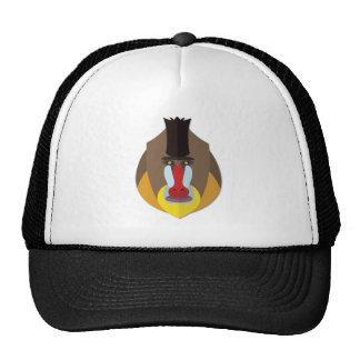 Cabeza del babuino del dibujo animado gorra