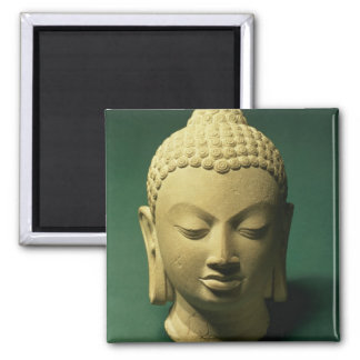 Cabeza del Buda, Sarnath (piedra arenisca) Imanes De Nevera