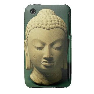 Cabeza del Buda, Sarnath (piedra arenisca) iPhone 3 Case-Mate Carcasas