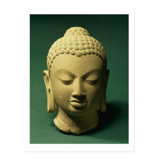 Cabeza del Buda Sarnath piedra arenisca Tarjeta Postal