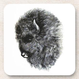 ¡Cabeza del búfalo - el búfalo americano poderoso! Posavasos De Bebidas