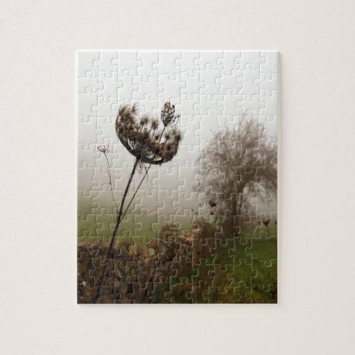 Cabeza del campo de la naturaleza en las nubes puzzle