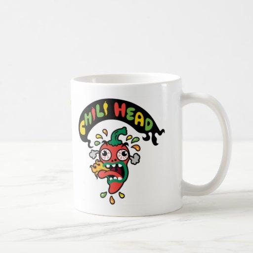 Cabeza del chile taza